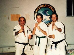 1998 - Hanshi Steve Arneil, Sensei Jonathan C. Hémond et Shihan Gaëtan Sauvé